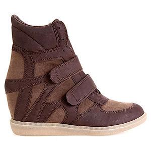 Colour Steps Sneakers Kahverengi Topuklu Spor Ayakkabı