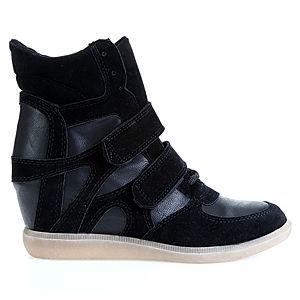Colour Steps Sneakers Siyah Topuklu Spor Ayakkabı