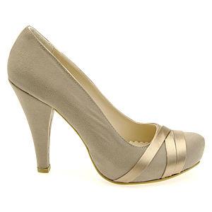 Colour Steps Vizon Bant Detaylı Topuklu Ayakkabı
