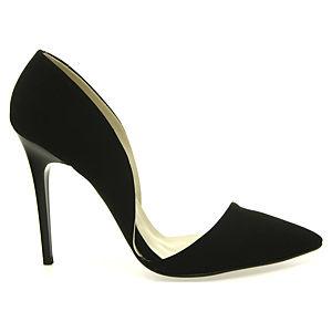 Colour Steps Yanı Açık Siyah Stiletto