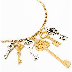2bTrendy Altın ve gümüş kaplama anahtar zincir kolye