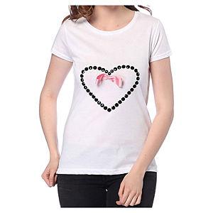 2bTrendy Beyaz Aşk T-Shirt