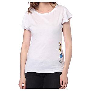 2bTrendy Beyaz Rahat Kalıp T-Shirt