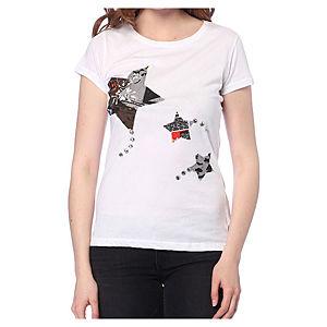 2bTrendy Beyaz Star T-Shirt