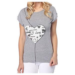 2bTrendy Gri Love T-Shirt