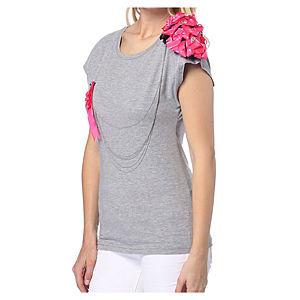 2bTrendy Gri Zincirli T-Shirt