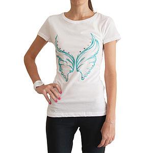 2bTrendy Mavi Kelebekli T-Shirt