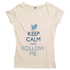 2bTrendy Mavi Yazılı Beyaz T-Shirt