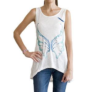 2bTrendy Melek Kanatlı ve Taşlı T-Shirt