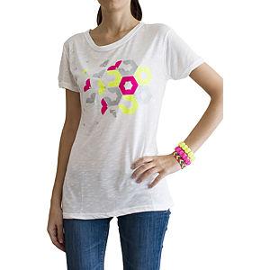2bTrendy Neon Petekli Krem T-Shirt