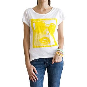 2bTrendy Neon Sarı Kız Desenli T-Shirt