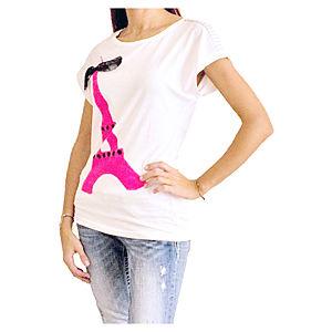 2bTrendy Pink Eiffiel T-Shirt