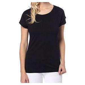 2bTrendy Siyah Arkası Fiyonk T-Shirt