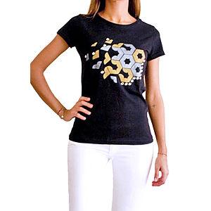 2bTrendy Siyah Desenli T-Shirt