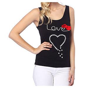 2bTrendy Siyah Heart T-Shirt
