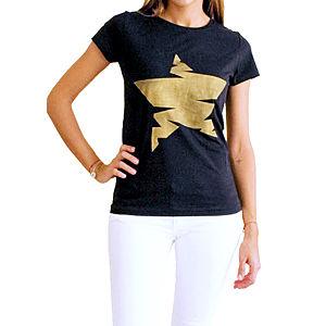 2bTrendy Siyah Yıldızlı T-Shirt