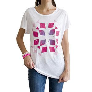 2bTrendy Taşlı Balık Desenli T-Shirt