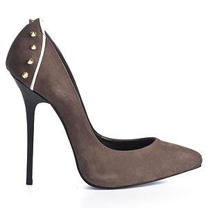 2iki by Sezgi Besli Altın Rengi Spike Topuklu Ayakkabı