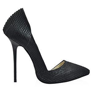 2iki by Sezgi Besli Çizikli Deri Stiletto Ayakkabı