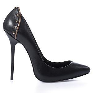 2iki by Sezgi Besli Deri Trok Detaylı Topuklu Ayakkabı