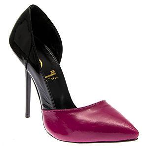2iki by Sezgi Besli Fuşya Siyah Rugan Ayakkabı