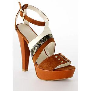 2iki by Sezgi Besli Kahverengi Platform Topuk Ayakkabı