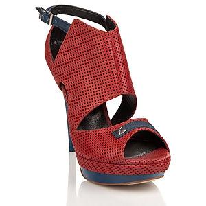 2iki by Sezgi Besli Kırımızı Platform Topuklu Ayakkabı