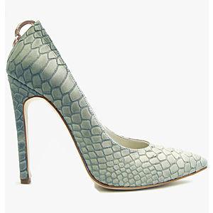 2iki by Sezgi Besli Mint Yeşili Bej Topuklu Aksesuarlı Ayakkabı