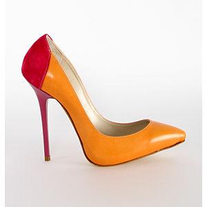 2iki by Sezgi Besli Turuncu Stiletto Topuklu Ayakkabı