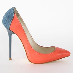 2iki by Sezgi Besli Yavruağzı Denim Stiletto Topuklu Ayakkabı