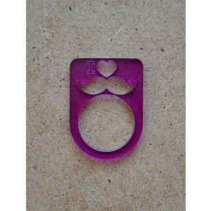 B612 Purple Moustache