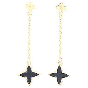 Mecrea Accessories Black Star Yıldız Küpe