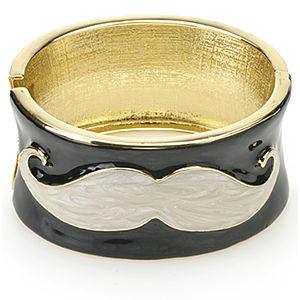 Mecrea Accessories Love Mustache Sedef Bıyık Desenli Bilezik