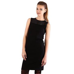 Mecrea Deri Detaylı Elegance Elbise
