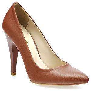 Mecrea Shoes Açık Kahve Deri Stiletto