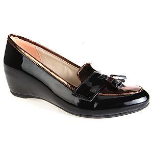 Mecrea Shoes Blast Bakır Siyah Gizli Dolgu Topuklu