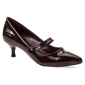 Mecrea Shoes Claudia Bantlı Kısa Topuk Bordo Stiletto
