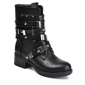 Mecrea Shoes Combat Siyah Bot