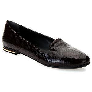 Mecrea Shoes Duma Kahve Rugan Yılan Babet