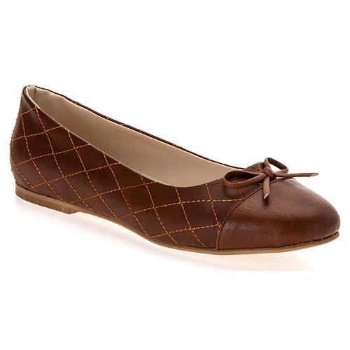 Mecrea Shoes Kapitone Kahve Babet