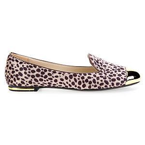 Mecrea Shoes Leopar Tüylü Gold Babet