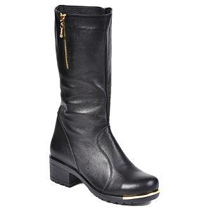 Mecrea Shoes Metalic Siyah Çizme