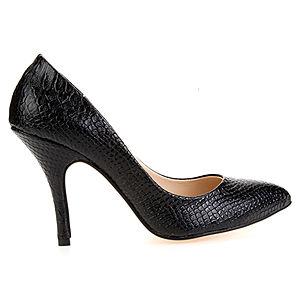 Mecrea Shoes Nero Exclusive Siyah Krokodil Stiletto