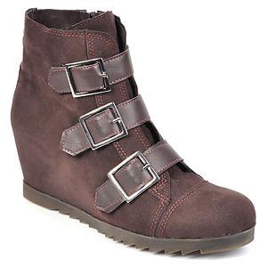 Mecrea Shoes Raider Kahve Dolgu Topuk Bootie