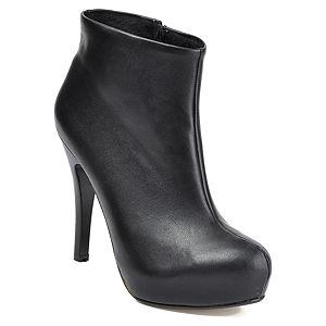 Mecrea Shoes Siyah Deri Bootie