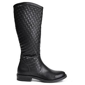 Mecrea Shoes Siyah Kapitone Çizme