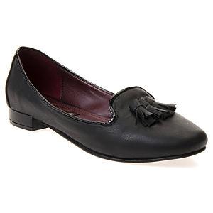 Mecrea Shoes Siyah Püsküllü Oxford Loafer