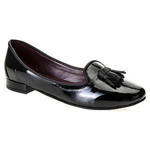 Mecrea Shoes Siyah Rugan Püsküllü Oxford Loafer