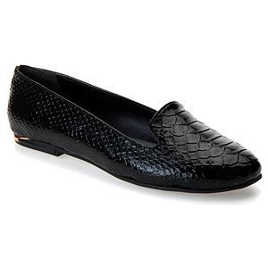 Mecrea Shoes Snake Siyah Rugan Yılan Babet