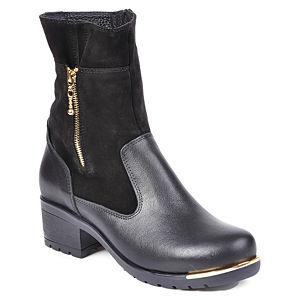 Mecrea Shoes Süet Detaylı Siyah Bot